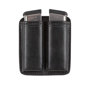 CLEARANCE!! Leather 2 Magazine Holder | Made In USA | Fits virtually any 9mm, .40, .45 or .380 Pistol Mag | Single or Double Stack | IWB or OWB