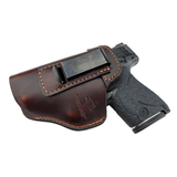 CLEARANCE!!  The Defender Leather IWB Holster - S&W Shield/Glock/XD Handguns  - Made in USA Holsters