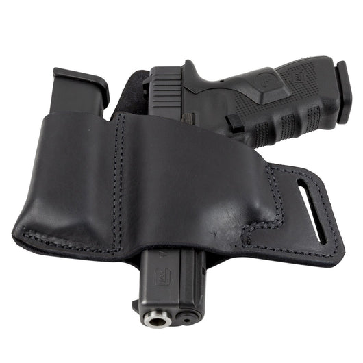 Comfort Carry Leather Holster & Mag Pouch Combo | Made In USA | Lifetime Warranty Holsters Black / Left Handed