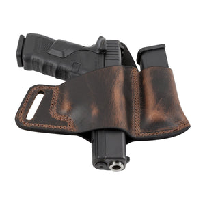 Comfort Carry Leather Holster & Mag Pouch Combo | Made In USA | Lifetime Warranty Holsters Brown / Right Handed