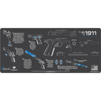 Load image into Gallery viewer, Gun Cleaning Mat - Instructional - Handguns - Made in the USA Tactical Accessories 1911