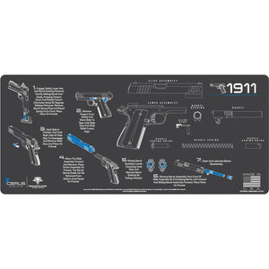 Gun Cleaning Mat - Instructional - Handguns - Made in the USA Tactical Accessories 1911