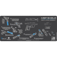 Load image into Gallery viewer, Gun Cleaning Mat - Instructional - Handguns - Made in the USA Tactical Accessories S&W Shield