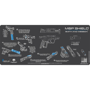 Gun Cleaning Mat - Instructional - Handguns - Made in the USA Tactical Accessories S&W Shield