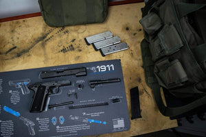 Gun Cleaning Mat - Instructional - Handguns - Made in the USA Tactical Accessories Glock