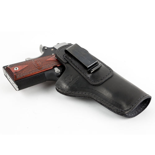 Relentless Tactical Holsters CLEARANCE!! The Defender Leather IWB Holster - Fits All 1911 Style Handguns - Made in USA Black / Inside the Waistband - Right Side