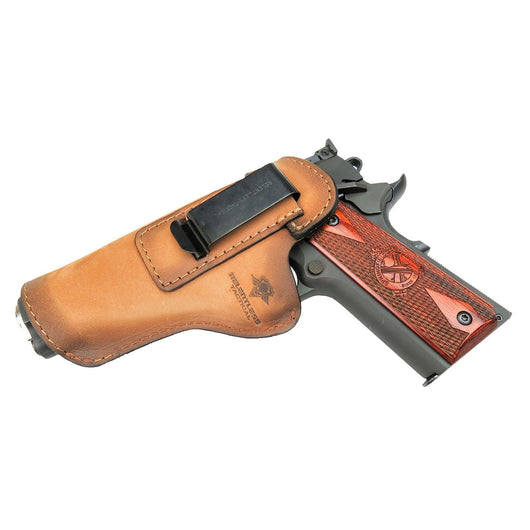 Relentless Tactical Holsters CLEARANCE!! The Defender Leather IWB Holster - Fits All 1911 Style Handguns - Made in USA Oak / Inside the Waistband - Left Side