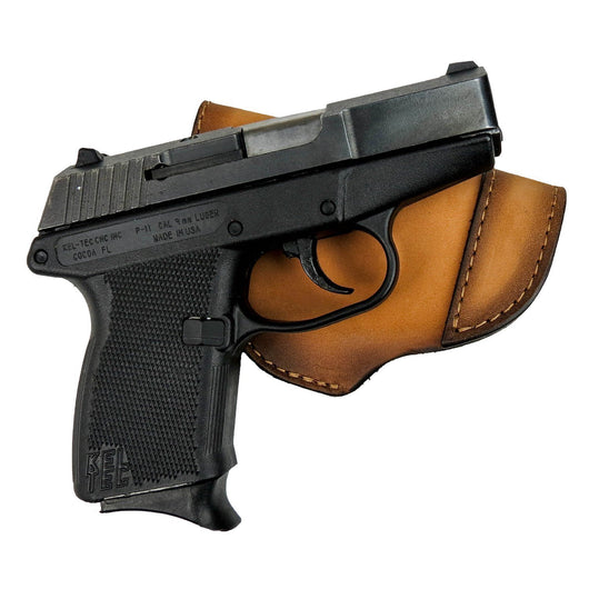 CLEARANCE!! The Defender Leather IWB Holster - Fits Glock 42 | Ruger LC9,  LC9s | Kahr CM9, MK9, P9 | Kel-Tec PF9, PF11 | Kimber Solo Carry - Made in