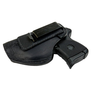 Relentless Tactical Holsters CLEARANCE!! The Defender Leather IWB Holster - Fits Ruger LCP, LCP2, Sig P238, P290, S&W Bodyguard .380 and Most .380's - Made in USA Black / Inside the Waistband - Left Side