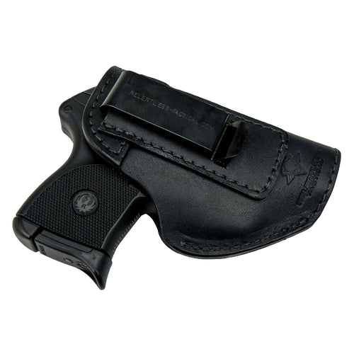 Relentless Tactical Holsters CLEARANCE!! The Defender Leather IWB Holster - Fits Ruger LCP, LCP2, Sig P238, P290, S&W Bodyguard .380 and Most .380's - Made in USA Black / Inside the Waistband - Right Side