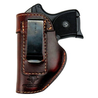 Load image into Gallery viewer, Relentless Tactical Holsters CLEARANCE!! The Defender Leather IWB Holster - Fits Ruger LCP, LCP2, Sig P238, P290, S&W Bodyguard .380 and Most .380's - Made in USA Black / Inside the Waistband - Right Side