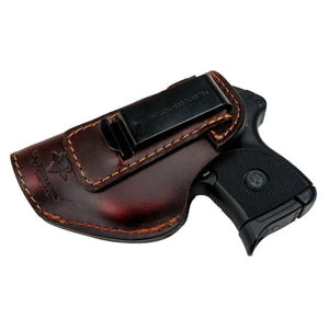 Relentless Tactical Holsters CLEARANCE!! The Defender Leather IWB Holster - Fits Ruger LCP, LCP2, Sig P238, P290, S&W Bodyguard .380 and Most .380's - Made in USA Brown / Inside the Waistband - Left Side