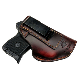 Relentless Tactical Holsters CLEARANCE!! The Defender Leather IWB Holster - Fits Ruger LCP, LCP2, Sig P238, P290, S&W Bodyguard .380 and Most .380's - Made in USA Brown / Inside the Waistband - Right Side
