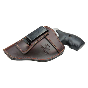 Relentless Tactical Holsters CLEARANCE!!! The Defender Leather IWB Holster - Fits Snub Nose Style Revolver - Made in USA Inside the Waistband - Left Handed / Brown