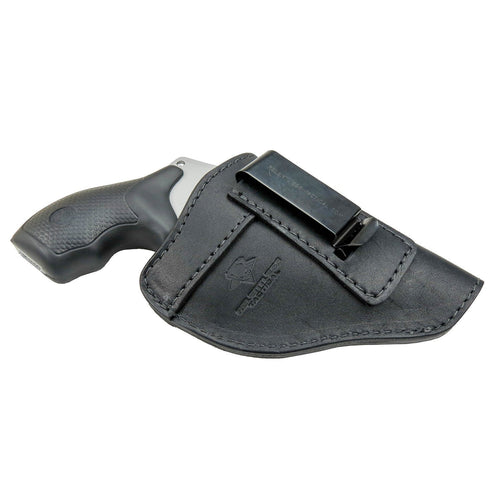Relentless Tactical Holsters CLEARANCE!!! The Defender Leather IWB Holster - Fits Snub Nose Style Revolver - Made in USA Inside the Waistband - Right Handed / Black