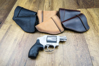 Load image into Gallery viewer, Relentless Tactical Holsters CLEARANCE!!! The Defender Leather IWB Holster - Fits Snub Nose Style Revolver - Made in USA Inside the Waistband - Right Handed / Black