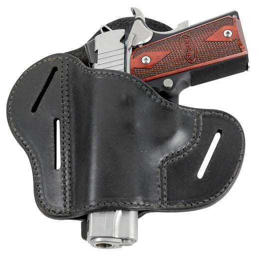 Relentless Tactical Holsters CLEARANCE!! The Ultimate Leather Gun Holster | 3 Slot Pancake Style Belt Holster | Handmade in the USA! | Fits all 1911 Style Handguns 1911 Left Handed / Black