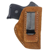 Load image into Gallery viewer, Relentless Tactical Holsters CLEARANCE!! The Ultimate Suede Leather IWB Holster - Fits .380 Autos - Made in USA Inside the Waistband - Right Handed / Black