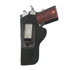 Relentless Tactical Holsters CLEARANCE!! The Ultimate Suede Leather IWB Holster - Fits All 1911's - Made in USA Inside the Waistband - Left Handed / Black