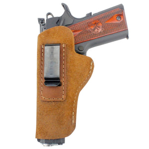Relentless Tactical Holsters CLEARANCE!! The Ultimate Suede Leather IWB Holster - Fits All 1911's - Made in USA Inside the Waistband - Left Handed / Brown