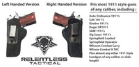 Load image into Gallery viewer, Relentless Tactical Holsters CLEARANCE!! The Ultimate Suede Leather IWB Holster - Fits All 1911's - Made in USA Inside the Waistband - Right Handed / Black