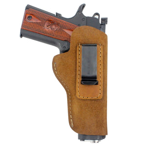 Relentless Tactical Holsters CLEARANCE!! The Ultimate Suede Leather IWB Holster - Fits All 1911's - Made in USA Inside the Waistband - Right Handed / Brown