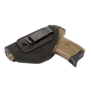 Relentless Tactical Holsters CLEARANCE!! The Ultimate Suede Leather IWB Holster - Fits Glock 42 | Ruger LC9, LC9s | Kahr CM9, MK9, P9 | Kel-Tec PF9, PF11 | Kimber Solo Carry - Lifetime Warranty - Made in USA Inside the Waistband - Left Handed / Black