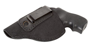 Relentless Tactical Holsters CLEARANCE!! The Ultimate Suede Leather IWB Holster - J Frame / 38 Special - Made in USA Inside the Waistband - Left Handed / Black