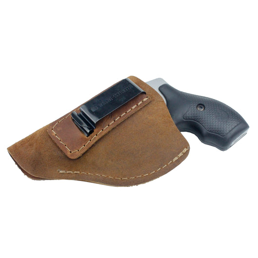 Relentless Tactical Holsters CLEARANCE!! The Ultimate Suede Leather IWB Holster - J Frame / 38 Special - Made in USA Inside the Waistband - Left Handed / Brown