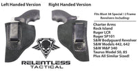 Load image into Gallery viewer, Relentless Tactical Holsters CLEARANCE!! The Ultimate Suede Leather IWB Holster - J Frame / 38 Special - Made in USA Inside the Waistband - Right Handed / Black