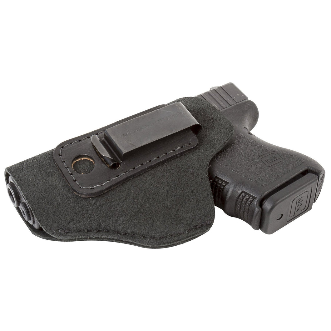 Relentless Tactical Holsters CLEARANCE!! The Ultimate Suede Leather IWB Holster - S&W Shield/Glock/XD -Made in USA Inside the Waistband - Left Handed / Black