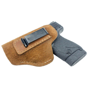 Relentless Tactical Holsters CLEARANCE!! The Ultimate Suede Leather IWB Holster - S&W Shield/Glock/XD -Made in USA Inside the Waistband - Left Handed / Brown