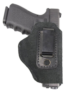 Relentless Tactical Holsters CLEARANCE!! The Ultimate Suede Leather IWB Holster - S&W Shield/Glock/XD -Made in USA Inside the Waistband - Right Handed / Black