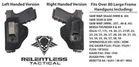 Load image into Gallery viewer, Relentless Tactical Holsters CLEARANCE!! The Ultimate Suede Leather IWB Holster - S&W Shield/Glock/XD -Made in USA Inside the Waistband - Right Handed / Black