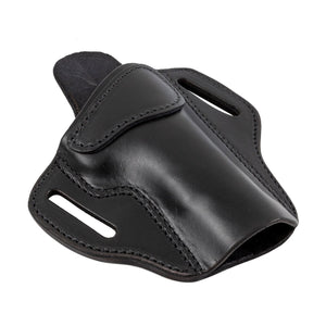 Relentless Tactical Ultimate Leather Holster 2 Slot OWB | Made in USA | Lifetime Warranty | Fits Most 1911 Style Handguns | Kimber - Colt - S & W - Sig Sauer - Remington - Ruger - Springfield & More Holsters Right Handed / Black