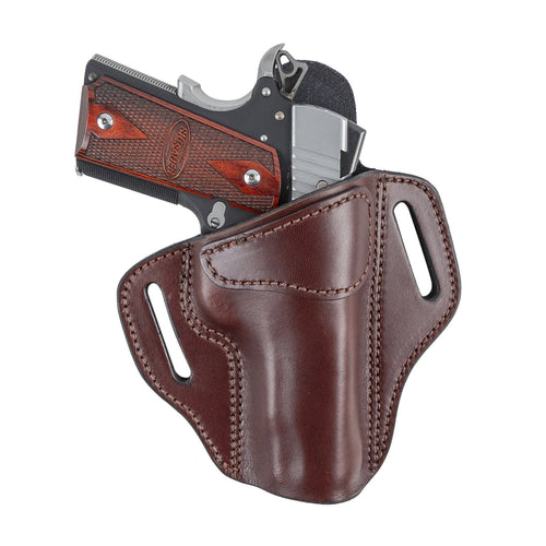 Relentless Tactical Ultimate Leather Holster 2 Slot OWB | Made in USA | Lifetime Warranty | Fits Most 1911 Style Handguns | Kimber - Colt - S & W - Sig Sauer - Remington - Ruger - Springfield & More Holsters Right Handed / Brown
