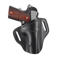 Load image into Gallery viewer, Relentless Tactical Ultimate Leather Holster 2 Slot OWB | Made in USA | Lifetime Warranty | Fits Most 1911 Style Handguns | Kimber - Colt - S & W - Sig Sauer - Remington - Ruger - Springfield & More Holsters Right Handed / Black