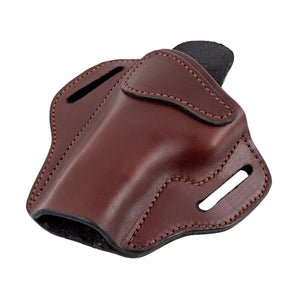 Relentless Tactical Ultimate Leather Holster 2 Slot OWB | Made in USA | Lifetime Warranty | For GLOCK 17 19 22 26 32 33 / S&W M&P Shield / Springfield XD & XDS / Plus All Similar Sized Handguns Holsters Right Handed / Black