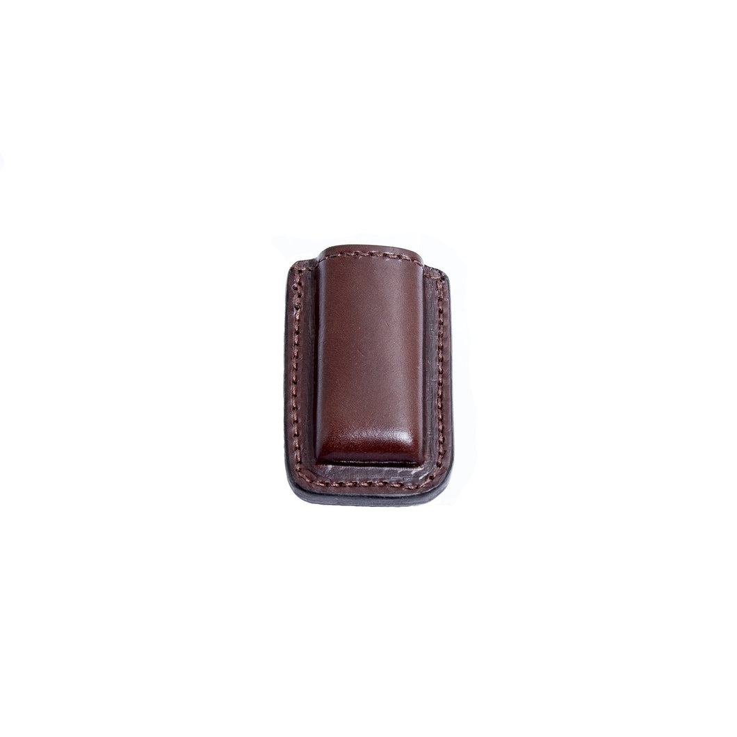 Relentless Tactical Tactical Accessories CLEARANCE!! Leather Magazine Holder | Made In USA | Fits virtually any 9mm, .40, .45 or .380 Pistol Mag | Single or Double Stack | IWB or OWB 380 Single Stack / Brown