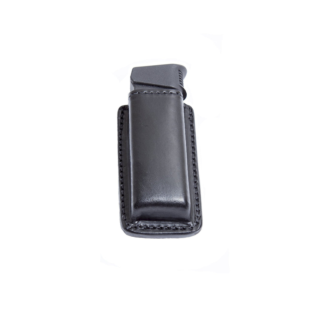 Relentless Tactical Tactical Accessories CLEARANCE!! Leather Magazine Holder | Made In USA | Fits virtually any 9mm, .40, .45 or .380 Pistol Mag | Single or Double Stack | IWB or OWB Double Stack / Black
