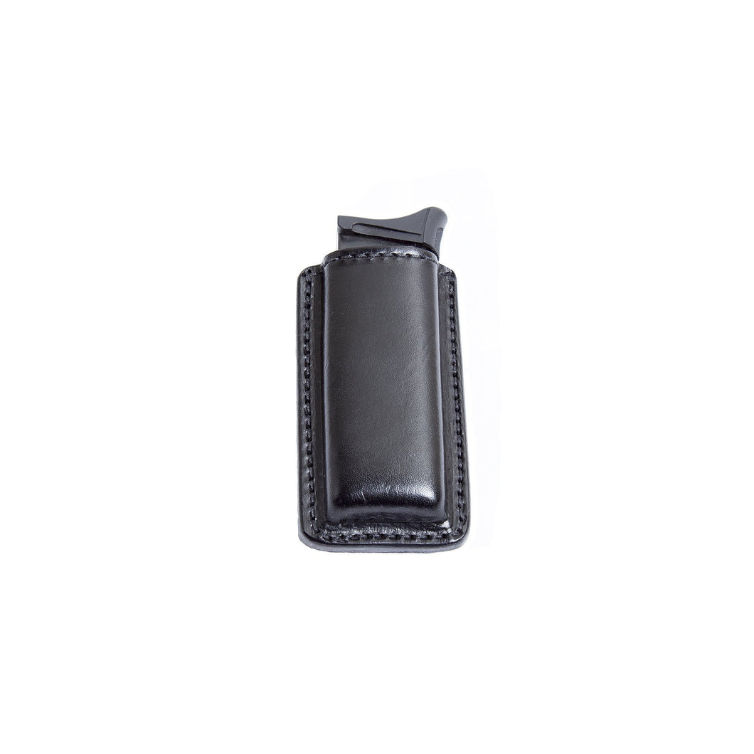 Relentless Tactical Tactical Accessories CLEARANCE!! Leather Magazine Holder | Made In USA | Fits virtually any 9mm, .40, .45 or .380 Pistol Mag | Single or Double Stack | IWB or OWB Single Stack / Black