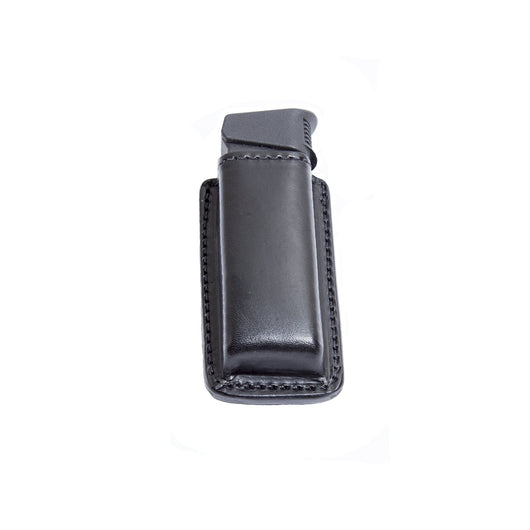 Relentless Tactical Tactical Accessories Leather Magazine Pouch with Spring Steel Belt Clip Double Stack / Black