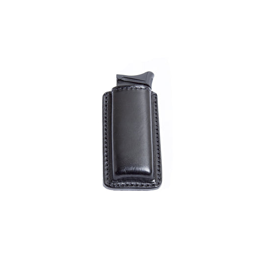 Relentless Tactical Tactical Accessories Leather Magazine Pouch with Spring Steel Belt Clip Single Stack / Black