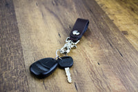 Load image into Gallery viewer, Relentless Tactical Tactical Accessories The Ultimate Leather Keychain | Made in USA | Hand Made of Full Grain Leather | Luxury Valet Keychain | Quick Detach | Leather Belt Keeper | Key Ring Organizer