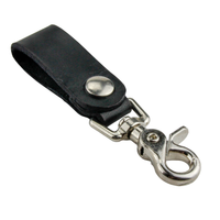 Load image into Gallery viewer, Relentless Tactical Tactical Accessories The Ultimate Leather Keychain | Made in USA | Hand Made of Full Grain Leather | Luxury Valet Keychain | Quick Detach | Leather Belt Keeper | Key Ring Organizer Black