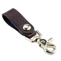 Load image into Gallery viewer, Relentless Tactical Tactical Accessories The Ultimate Leather Keychain | Made in USA | Hand Made of Full Grain Leather | Luxury Valet Keychain | Quick Detach | Leather Belt Keeper | Key Ring Organizer Brown