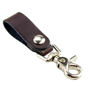 Relentless Tactical Tactical Accessories The Ultimate Leather Keychain | Made in USA | Hand Made of Full Grain Leather | Luxury Valet Keychain | Quick Detach | Leather Belt Keeper | Key Ring Organizer Brown