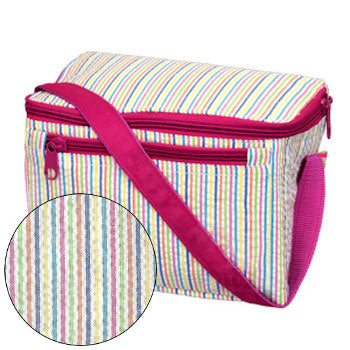 Personalized Lunch Box by Mint<br> Rainbow Seersucker