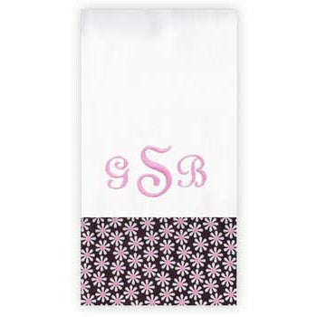 Personalized Burp Cloth<br> Mini Daisies - Moonbeam Baby