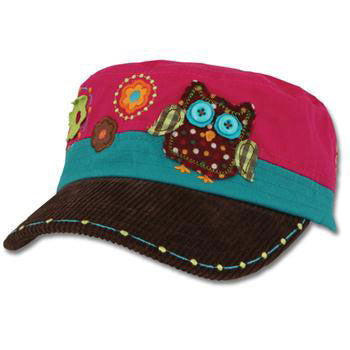 Embroidered Hat - Owl Signature Collection - Moonbeam Baby